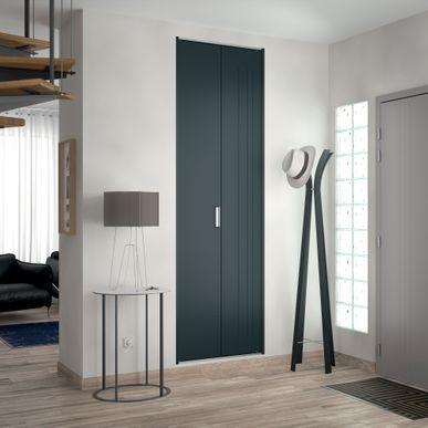 fa ade 1 porte pliante m tal trio laqu gris anthracite. Black Bedroom Furniture Sets. Home Design Ideas